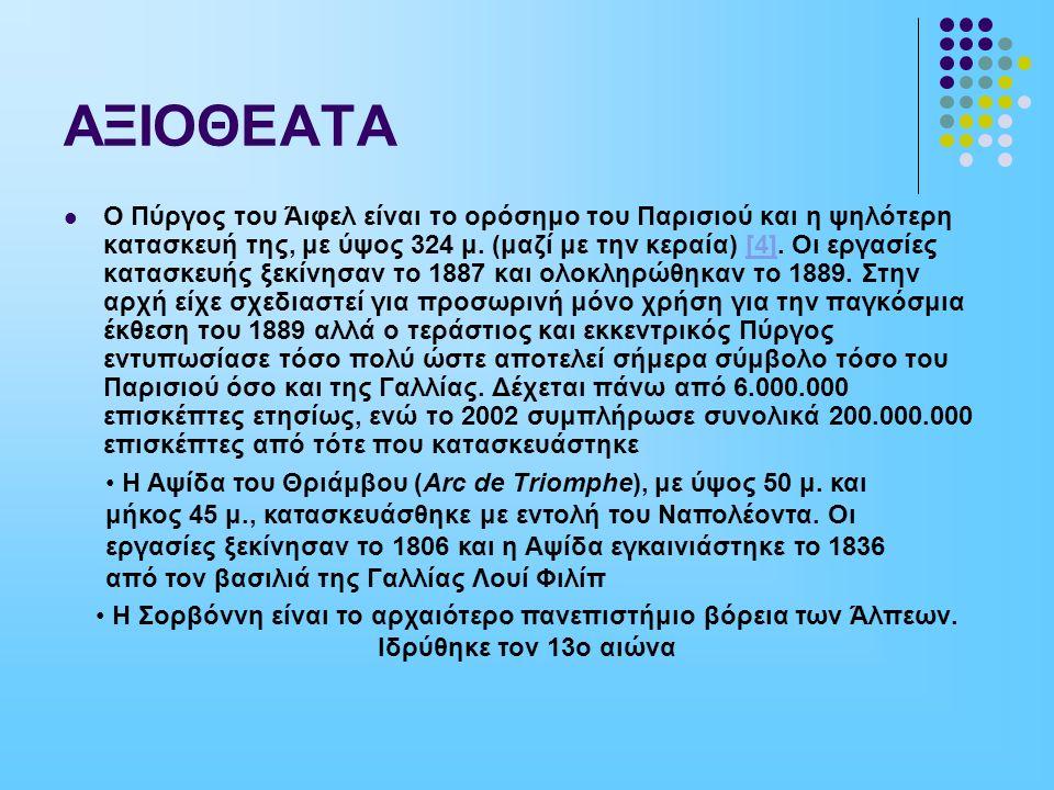 ΑΞΙΟΘΕΑΤΑ ΑΨΙΔΑ ΤΟΥ ΘΡΙΑΜΒΟΥ ΠΥΡΓΟΣ ΤΟΥ Α'Ι'ΦΕΛ