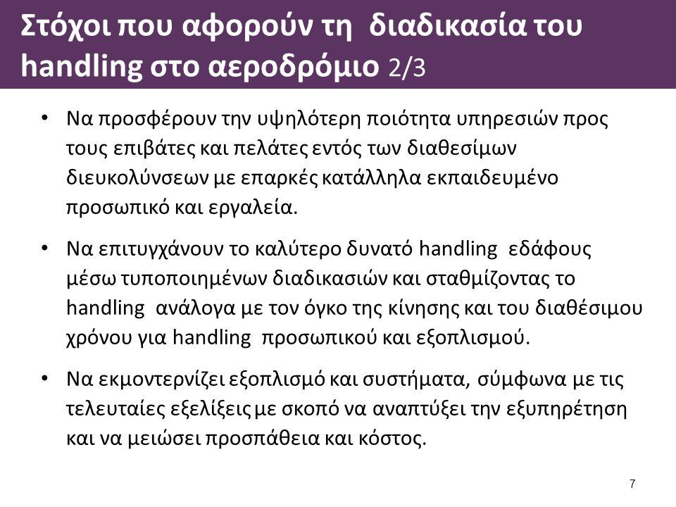 Στόχοι που αφορούν τη διαδικασία του handling στο αεροδρόμιο 3/3 Aircraft Handling.