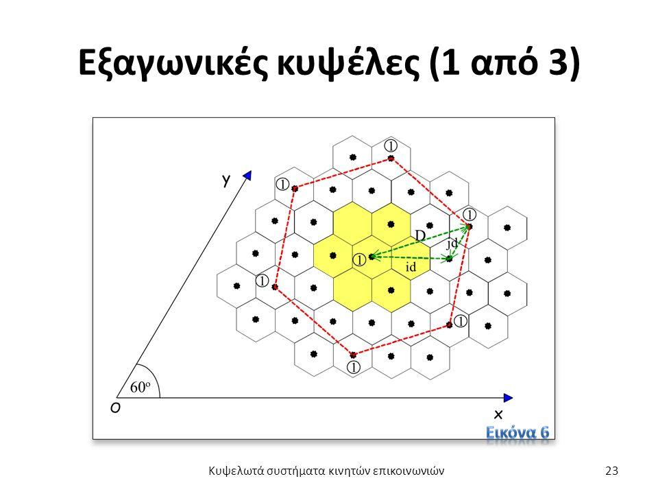 Εξαγωνικές κυψέλες (1 από 3) Κυψελωτά συστήματα κινητών επικοινωνιών23