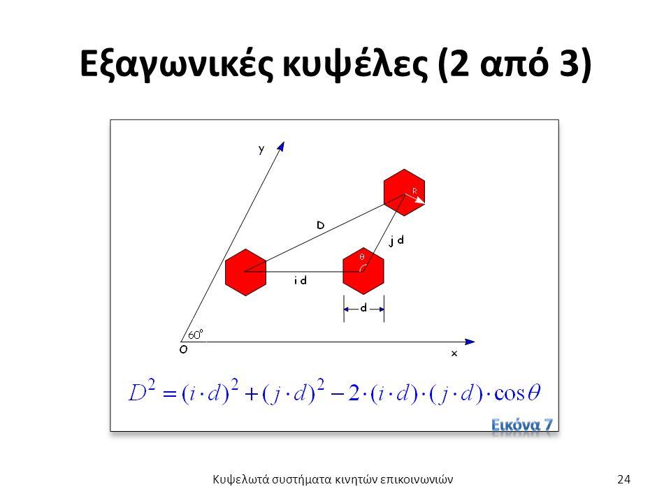 Εξαγωνικές κυψέλες (2 από 3) Κυψελωτά συστήματα κινητών επικοινωνιών24