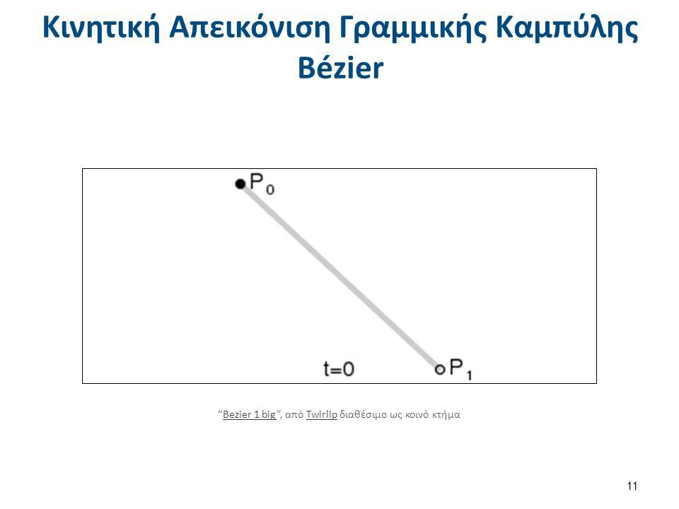 Κινητική Απεικόνιση Γραμμικής Καμπύλης Bézier 11 Bezier 1 big , από Twirlip διαθέσιμο ως κοινό κτήμαBezier 1 bigTwirlip