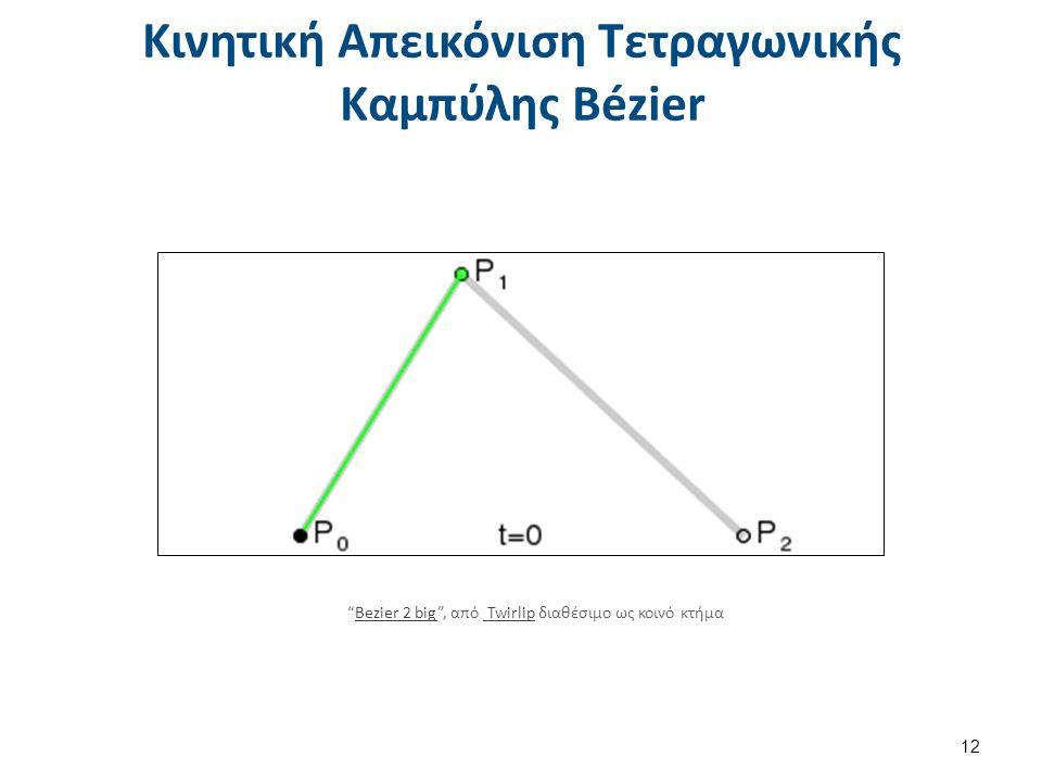 Κινητική Απεικόνιση Τετραγωνικής Καμπύλης Bézier 12 Bezier 2 big , από Twirlip διαθέσιμο ως κοινό κτήμαBezier 2 big Twirlip