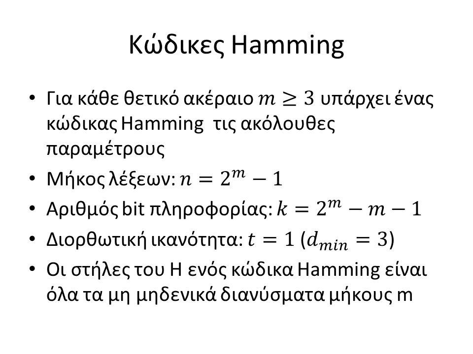Κώδικες Hamming