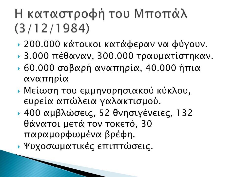  200.000 κάτοικοι κατάφεραν να φύγουν.  3.000 πέθαναν, 300.000 τραυματίστηκαν.