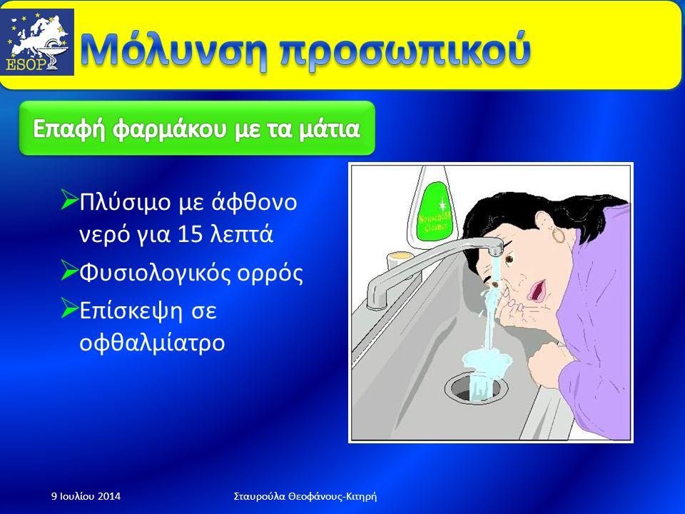 Παροχή πρώτων βοηθειών 9 Ιουλίου 2014Σταυρούλα Θεοφάνους-Κιτηρή