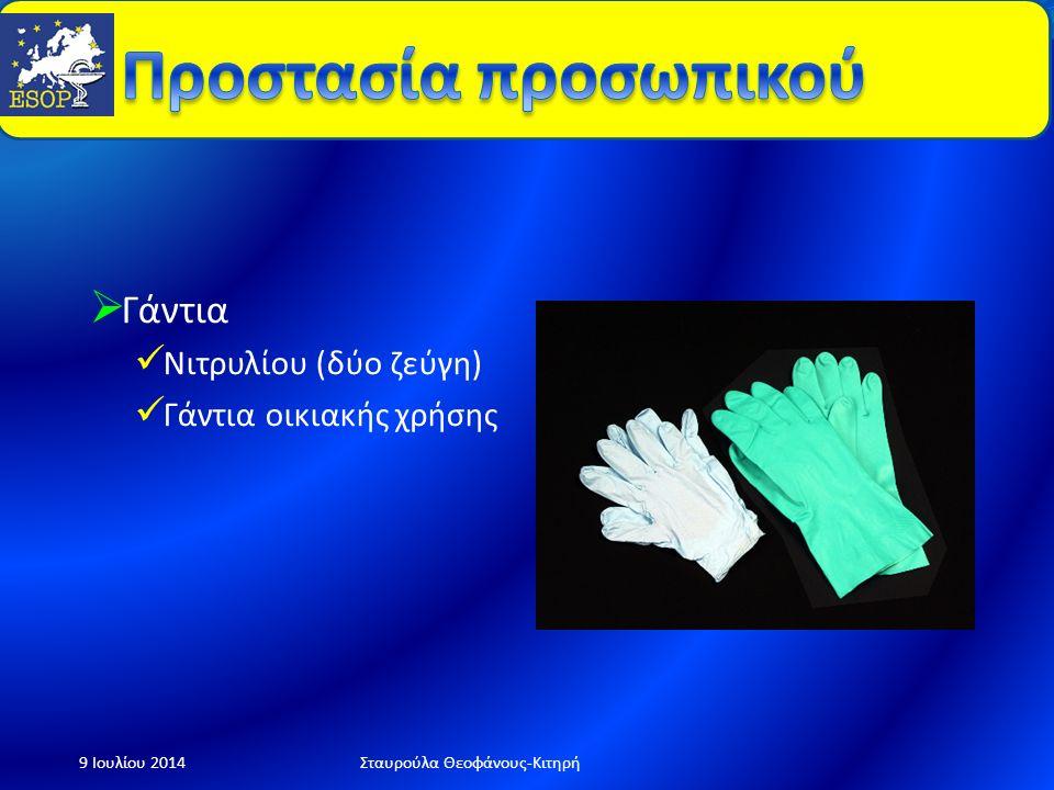  Προστατευτική μάσκα (P3)  γυαλιά 9 Ιουλίου 2014Σταυρούλα Θεοφάνους-Κιτηρή