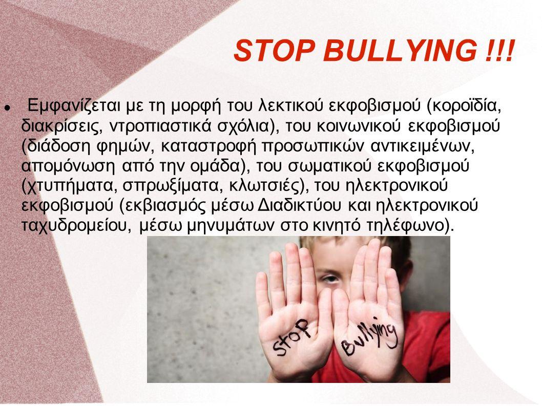 STOP BULLYING !!.