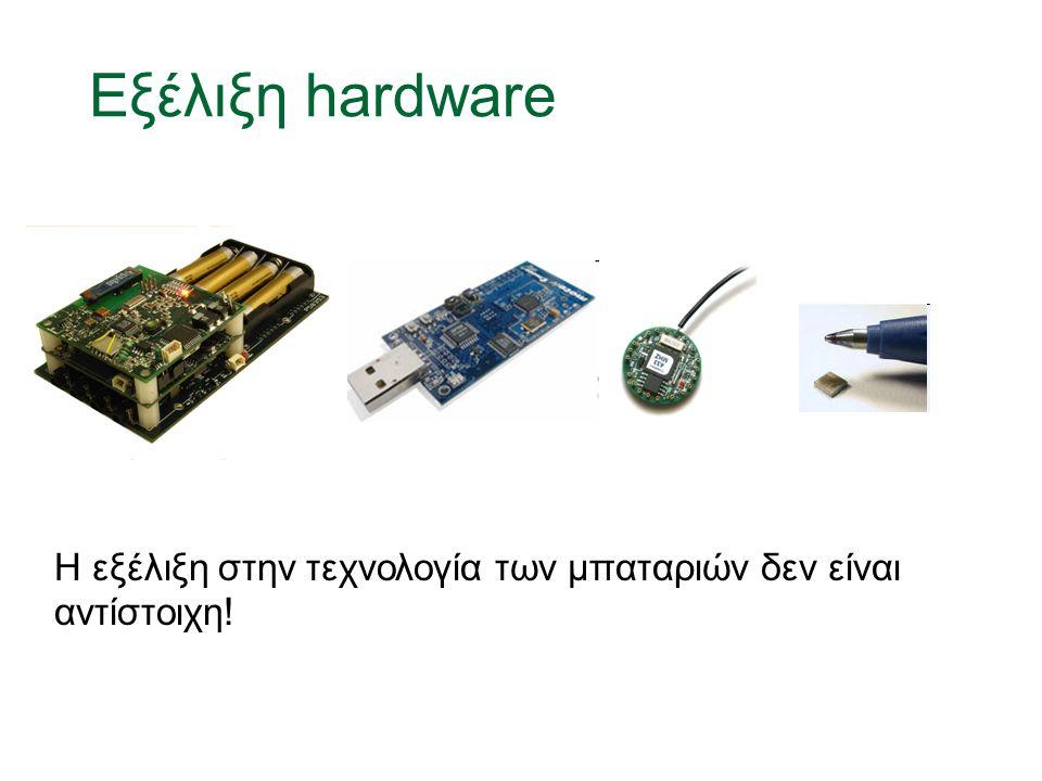 Εξέλιξη hardware Η εξέλιξη στην τεχνολογία των μπαταριών δεν είναι αντίστοιχη!