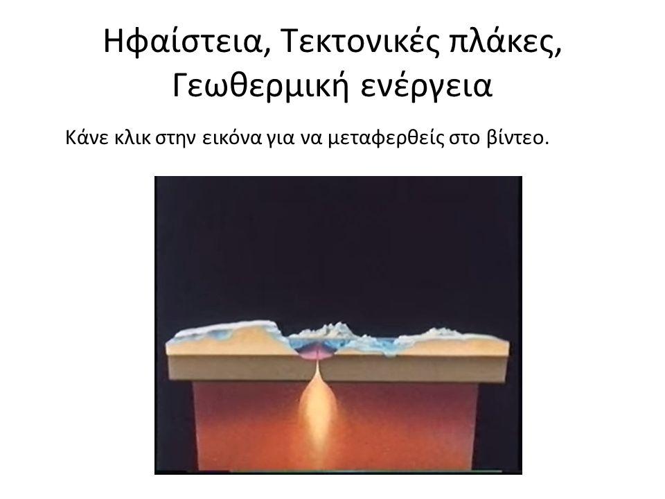 Ηφαίστεια, Τεκτονικές πλάκες, Γεωθερμική ενέργεια Κάνε κλικ στην εικόνα για να μεταφερθείς στο βίντεο.