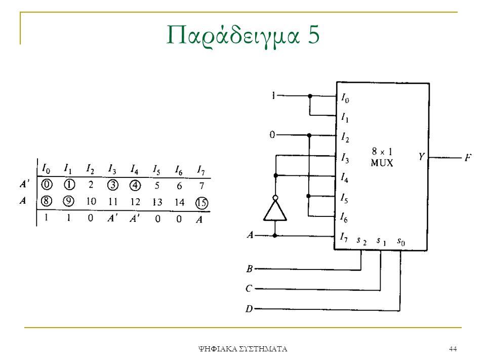 Παράδειγμα 5 ΨΗΦΙΑΚΑ ΣΥΣΤΗΜΑΤΑ 44