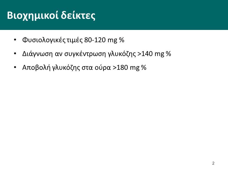 Συμπτώματα Πολυδιψία: μόνιμο αίσθημα δίψας Πολυουρία: συχνή ενούρηση Υπνηλία Απώλεια βάρους Δυσκολία στην επούλωση πληγών 3