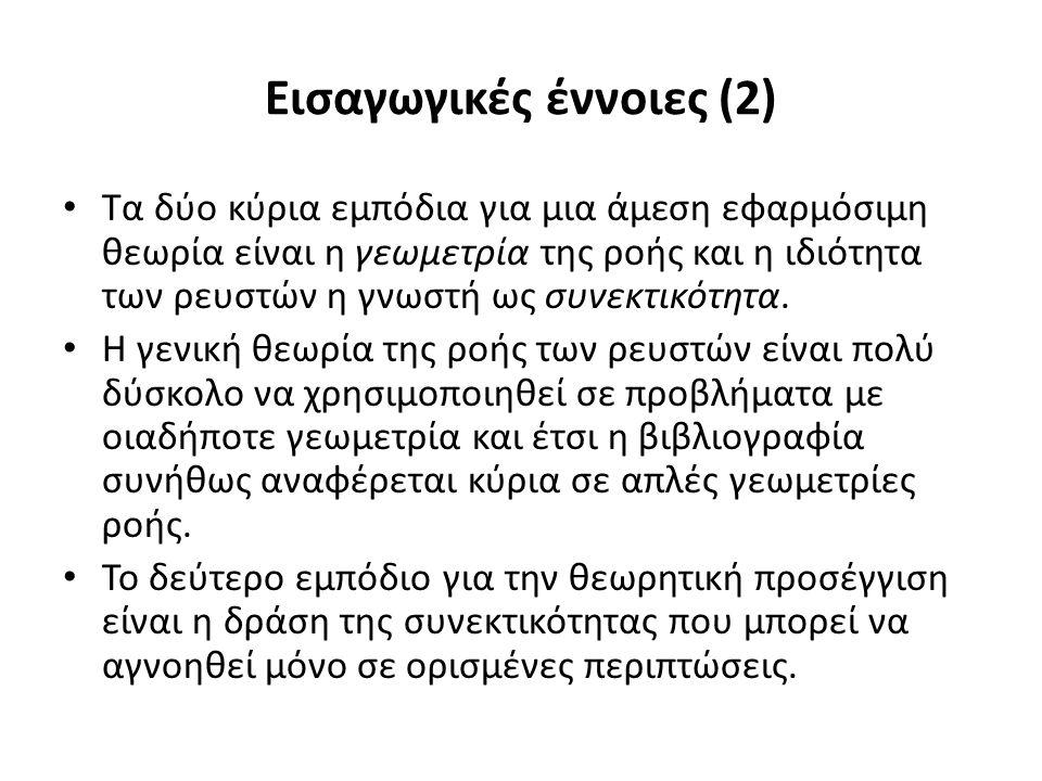 Είδη ροής (5) Συμπιεστή και ασυμπίεστη ροή.