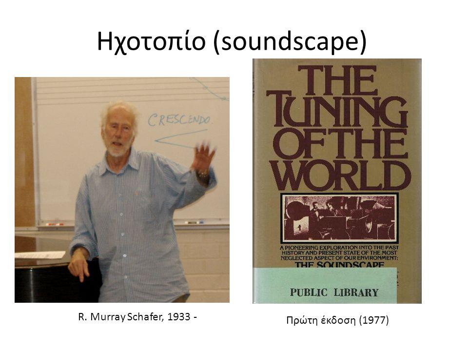 Ηχοτοπίο (soundscape) R. Murray Schafer, 1933 - Πρώτη έκδοση (1977)