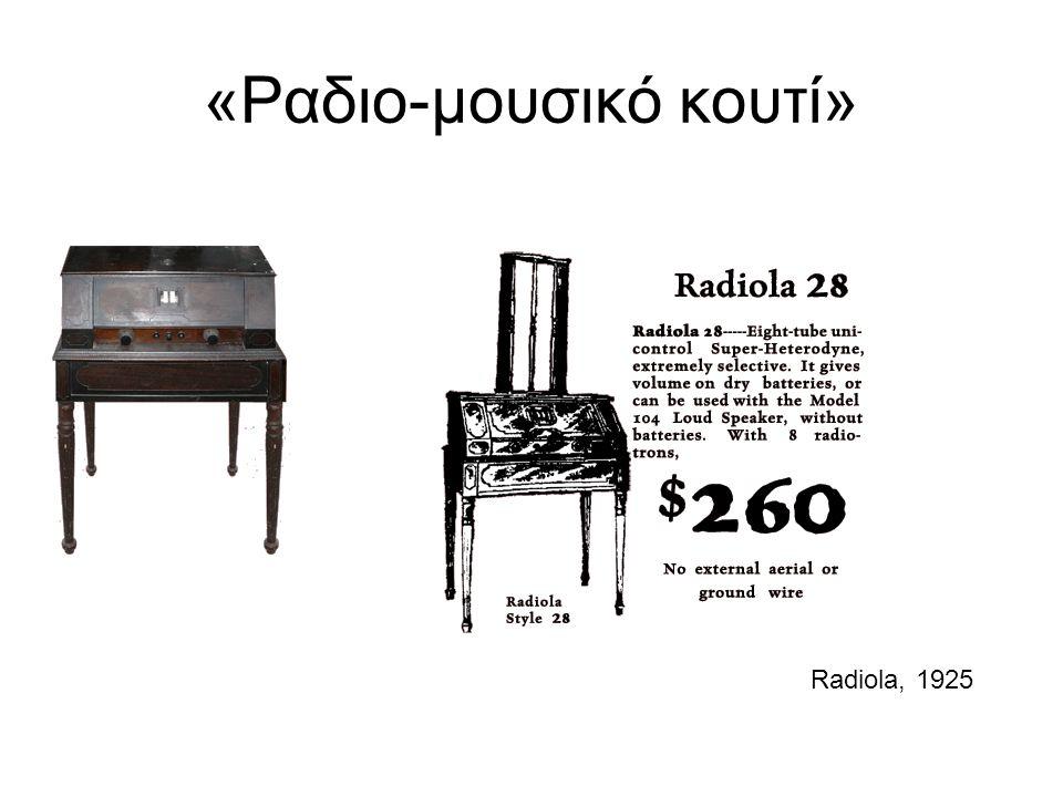 «Ραδιο-μουσικό κουτί» Radiola, 1925