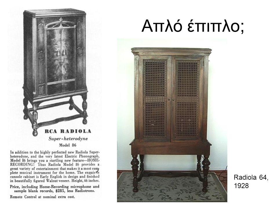 Απλό έπιπλο; Radiola 64, 1928