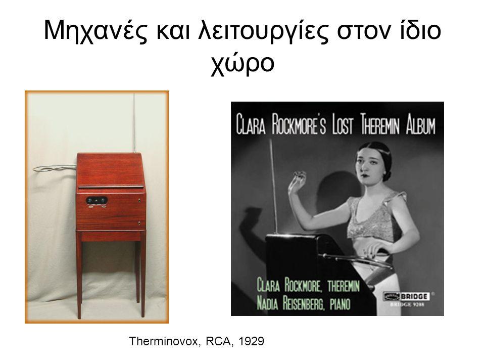 Μηχανές και λειτουργίες στον ίδιο χώρο Therminovox, RCA, 1929