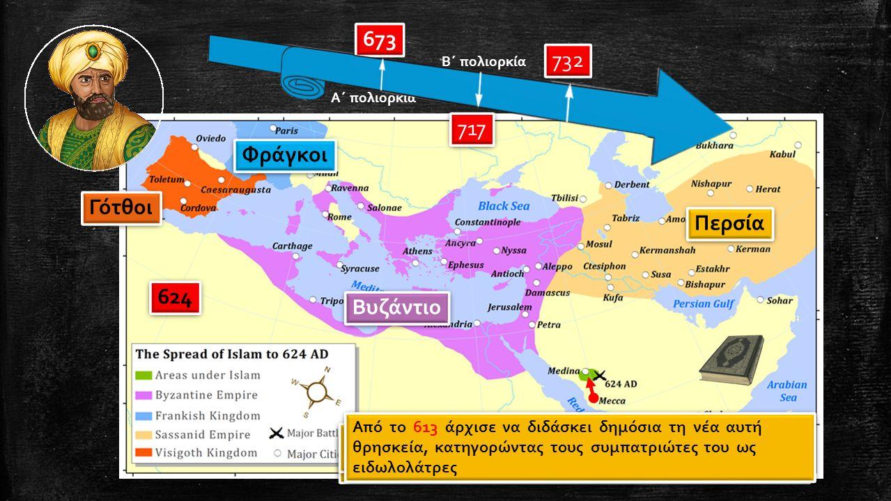 673 717 732 ο Μωάμεθ εκδιώχθηκε το 622 από τη Μέκκα και κατέφυγε στη Μεδίνα, όπου ίδρυσε μια κοινότητα πιστών Ο Μωάμεθ υπήρξε ο ιδρυτής μιας νέας θρησ