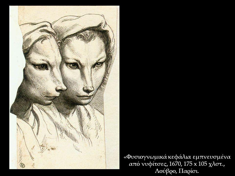 «Φυσιογνωμικά κεφάλια εμπνευσμένα από νυφίτσες, 1670, 175 x 105 χλστ., Λούβρο, Παρίσι.