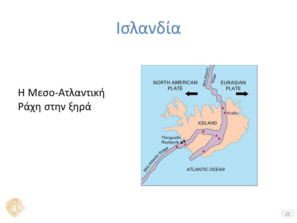 25 Η Μεσο-Ατλαντική Ράχη στην ξηρά Ισλανδία