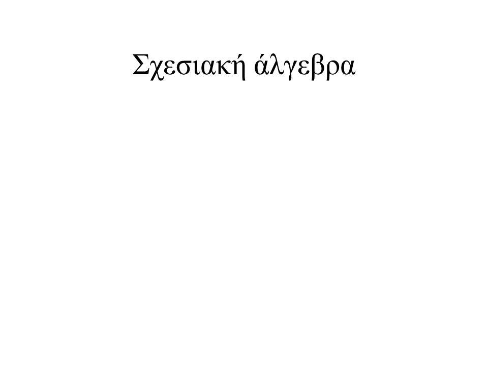 Σχεσιακή άλγεβρα