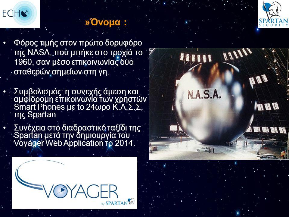 Φόρος τιμής στον πρώτο δορυφόρο της ΝΑSA, που μπήκε στο τροχιά το 1960, σαν μέσο επικοινωνίας δύο σταθερών σημείων στη γη. »Όνομα : Συμβολισμός: η συν