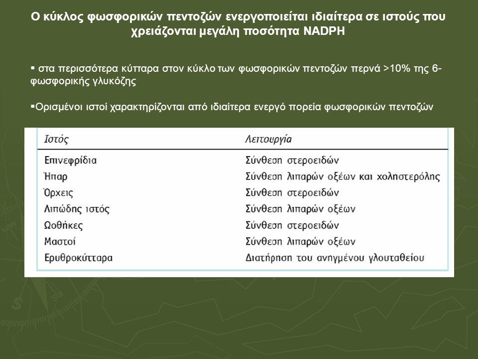 Συνένζυμο της τρανσκετολάσης Πυροφωσφορική θειαμίνη ΤΡΡ Μετάλλαξη στο γονίδιο της τρανσκετολάσης, Ανεπάρκεια θειαμίνης, ↓ [ΤΡΡ] : επιβράδυνση οδού φωσφορικών πεντοζών Σύνδρομο Wernicke-Korsakoff – βαριά απώλεια μνήμης, διανοητική σύγχυση, μερική παράλυση Μη οξειδωτικές αντιδράσεις της οδού των φωσφορικών πεντοζών Μετατροπή φωσφορικών πεντοζών σε φωσφορικές εξόζες Αντιστρεπτές αντιδράσεις Αναδιατάξεις ανθρακικών σκελετών 1.