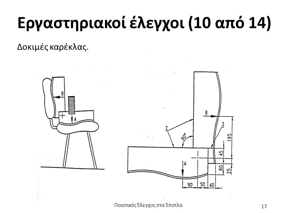 Εργαστηριακοί έλεγχοι (10 από 14) Δοκιμές καρέκλας. Ποιοτικός Έλεγχος στα Έπιπλα 17