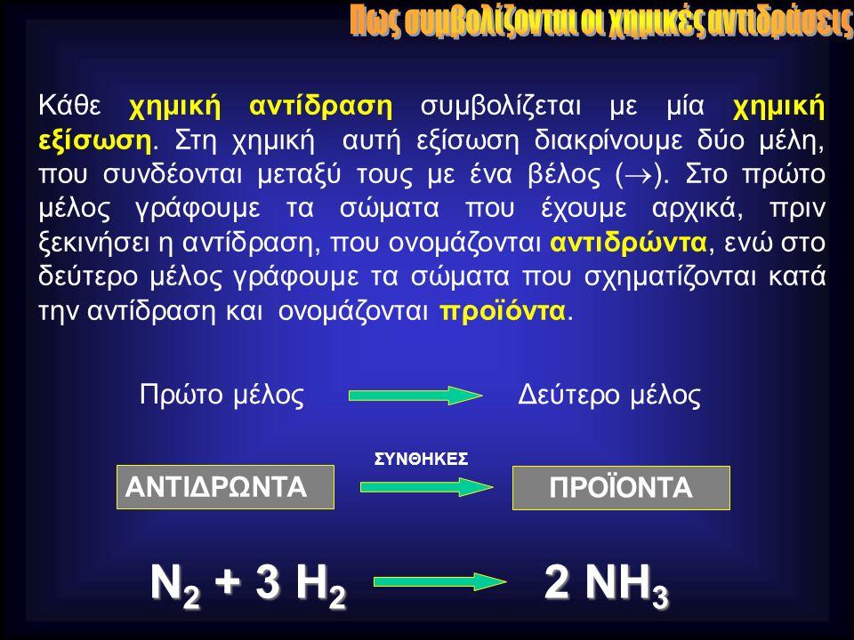 Η απόδοση μιας αντίδρασης μπορεί να μεταβληθεί : 1.