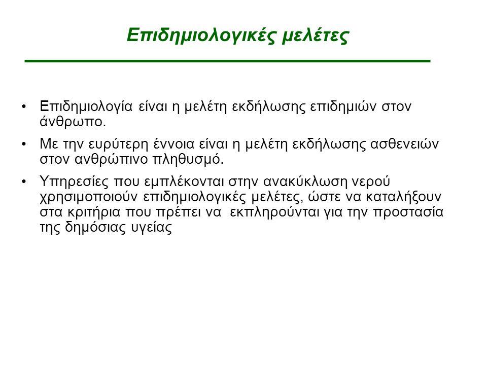 Επιδημιολογικές μελέτες Επιδημιολογία είναι η μελέτη εκδήλωσης επιδημιών στον άνθρωπο.