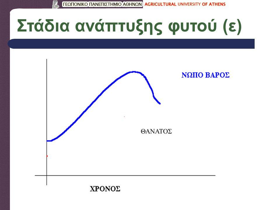 Στάδια ανάπτυξης φυτού (ε)