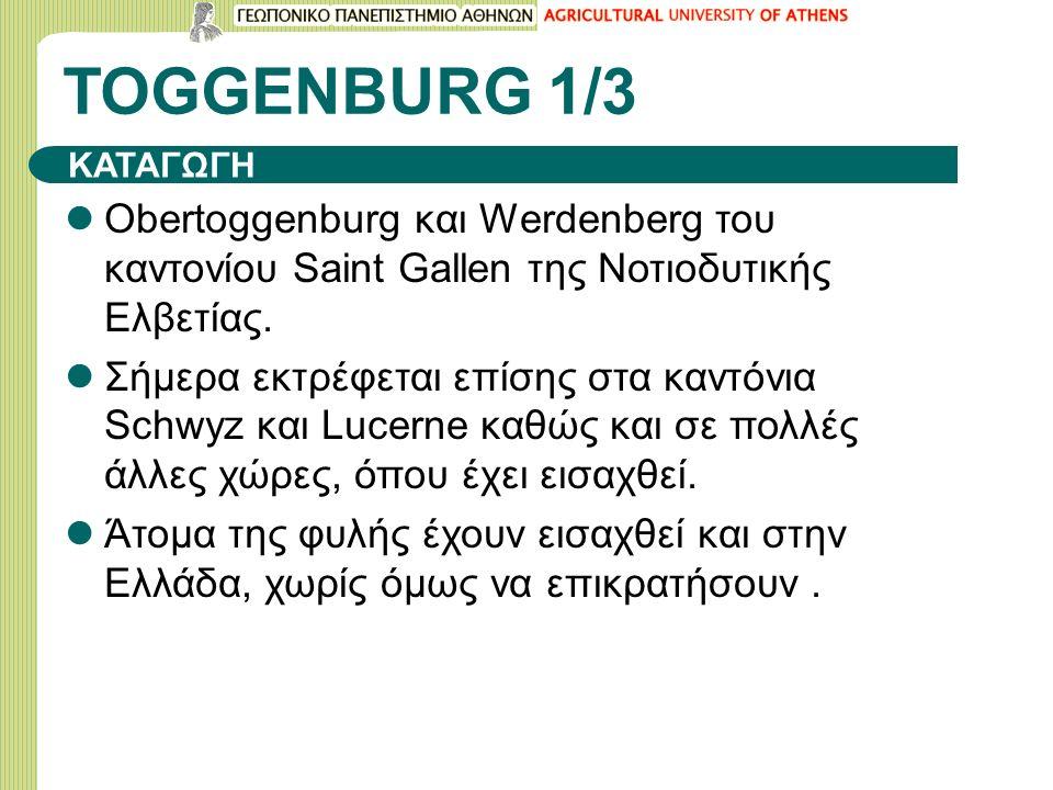 TOGGENBURG 1/3 Obertoggenburg και Werdenberg του καντονίου Saint Gallen της Νοτιοδυτικής Ελβετίας.