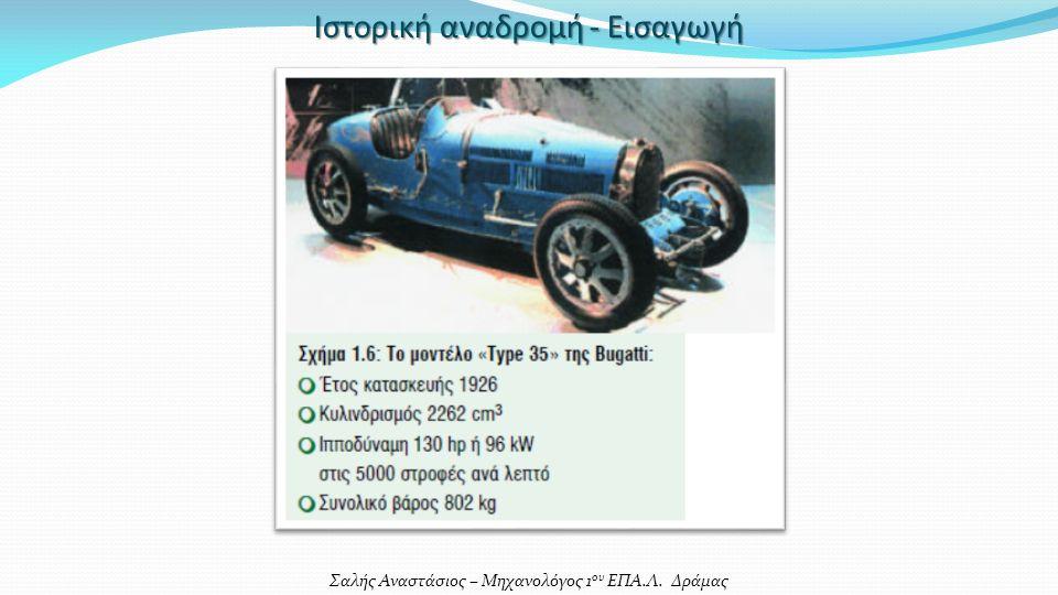 Σαλής Αναστάσιος – Μηχανολόγος 1 ου ΕΠΑ.Λ. Δράμας Ιστορική αναδρομή - Εισαγωγή