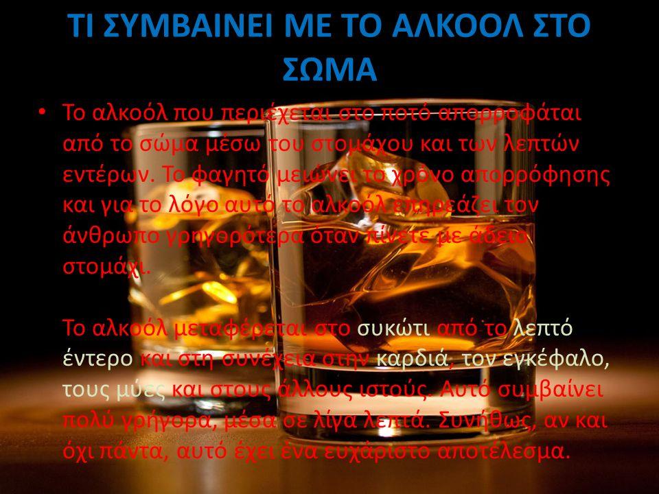 ΨΥΧΙΚΕΣ ΕΠΙΠΤΩΣΕΙΣ Τα αλκοολούχα ποτά προκαλούν ψυχικές επιπτώσεις στον άνθρωπο.