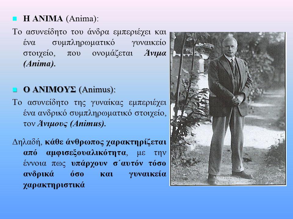 n n Η ΣΚΙΑ (The Shadow): Θεωρείται μια άλλη πλευρά του εαυτού του ανθρώπου και εδράζεται στο προσωπικό του ασυνείδητο.
