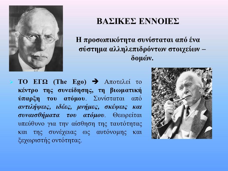 H θεωρία προσωπικότητας της Αναλυτικής Ψυχολογίας Βασικοί άξονες της θεωρίας: n n Η θεώρηση του Jung για τον άνθρωπο συνδυάζει την τελεολογία και την αιτιοκρατία.