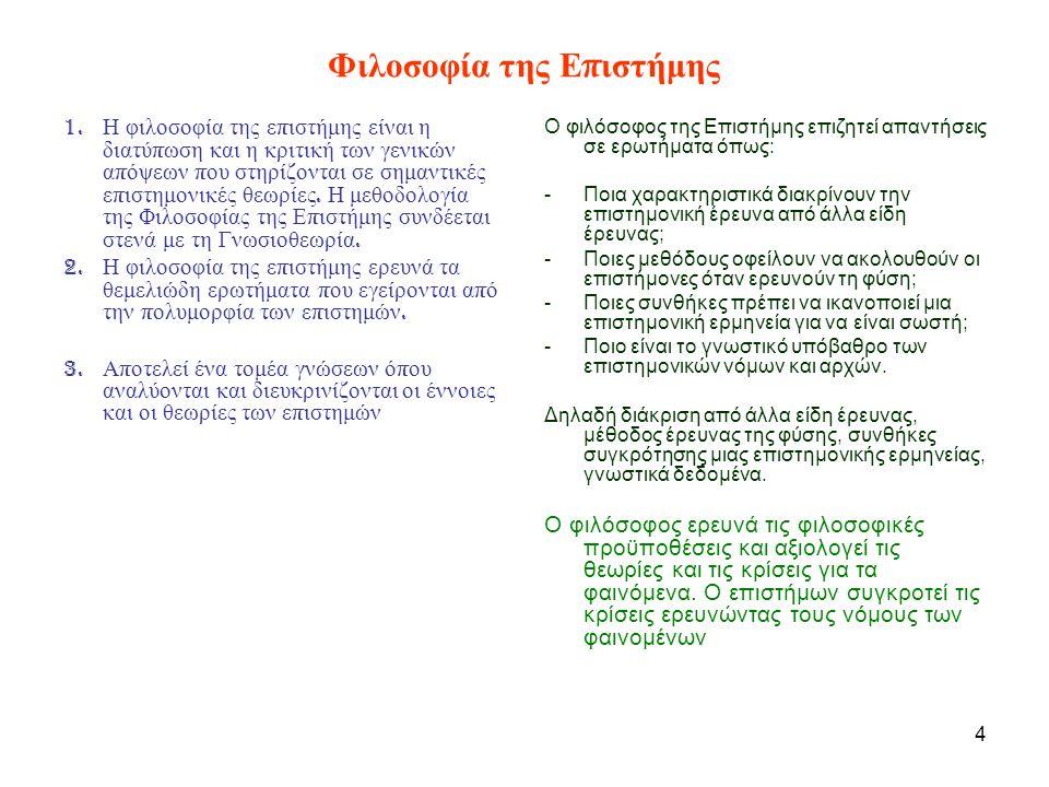 25 Η Θεωρία της Λογικής Ανασυγκρότησης 1.Κάθε επίπεδο είναι μια «ερμηνεία» του αμέσως κατώτερου επιπέδου.