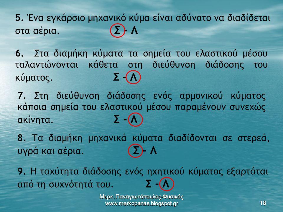 Μερκ. Παναγιωτόπουλος-Φυσικός www.merkopanas.blogspot.gr18 5.