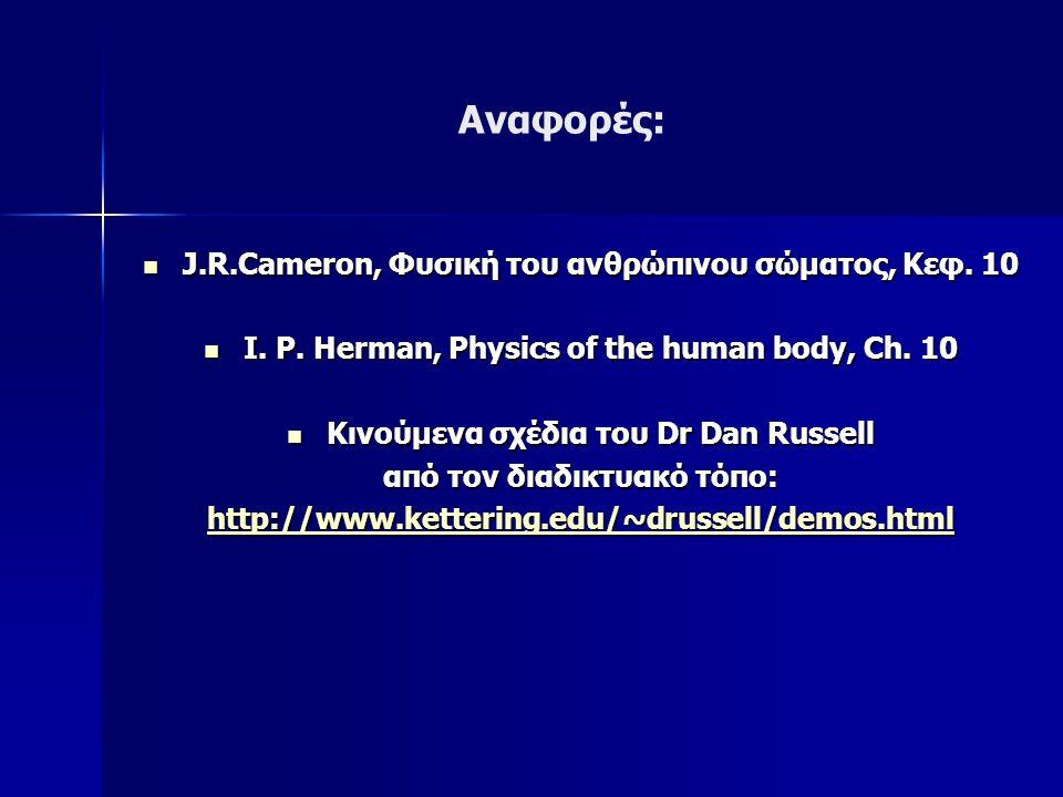 J.R.Cameron, Φυσική του ανθρώπινου σώματος, Κεφ.
