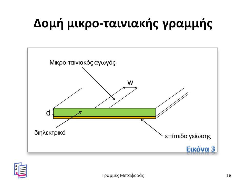 Δομή μικρο-ταινιακής γραμμής Γραμμές Μεταφοράς18