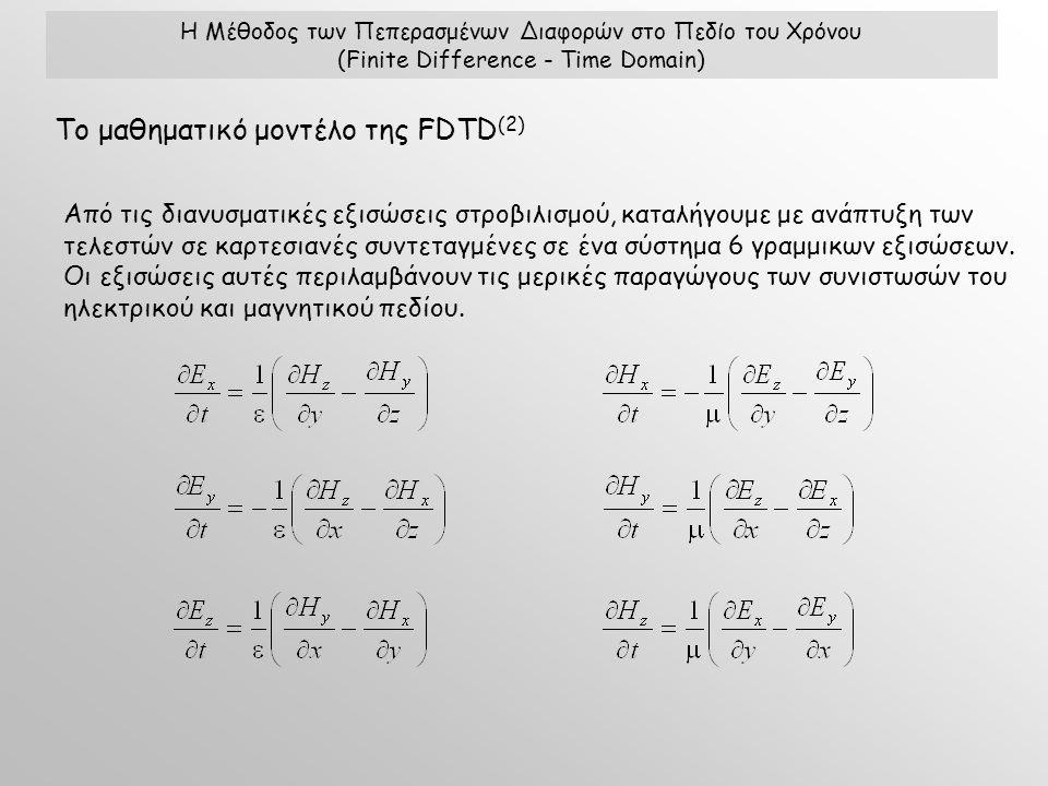 Από τις διανυσματικές εξισώσεις στροβιλισμού, καταλήγουμε με ανάπτυξη των τελεστών σε καρτεσιανές συντεταγμένες σε ένα σύστημα 6 γραμμικων εξισώσεων.
