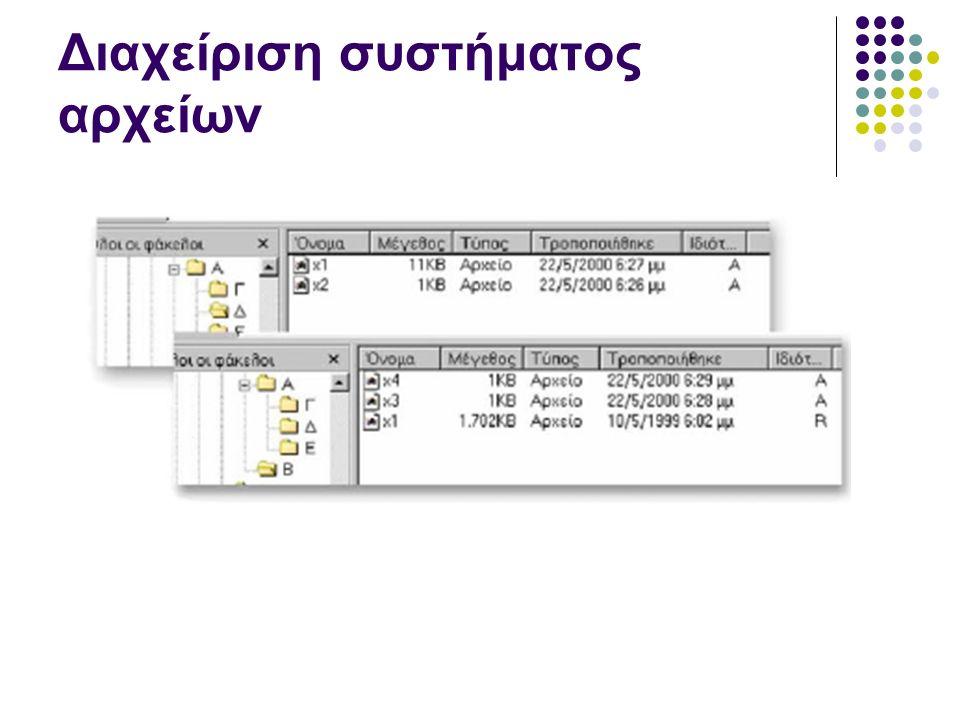Διαχείριση συστήματος αρχείων