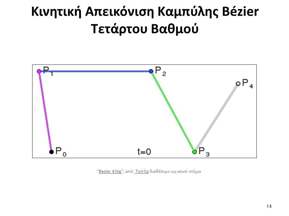 Κινητική Απεικόνιση Καμπύλης Bézier Τετάρτου Βαθμού 14 Bezier 4 big , από Twirlip διαθέσιμο ως κοινό κτήμαBezier 4 big Twirlip