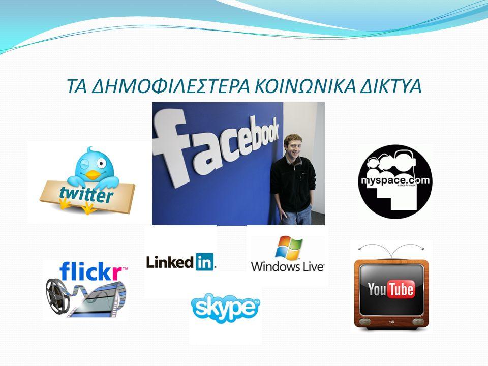 ΤΟ FACEBOOK Ξεκίνησε το 2004 όταν ο τριτοετής φοιτητής του Χάρβαρντ Mark Zuckerberg δημιούργησε ένα ηλεκτρονικό δίκτυο για την επικοινωνία μεταξύ των συμφοιτητών του Το 2006 η ιστοσελίδα έγινε προσβάσιμη σε όλο τον κόσμο και προκάλεσε επανάσταση στην επικοινωνία Η εγγραφή προϋποθέτει τη δημιουργία προσωπικών προφίλ με την καταχώρηση στοιχείων όπως: ονοματεπώνυμο, ηλεκτρονική διεύ/νση, ηλικία, κ.α.