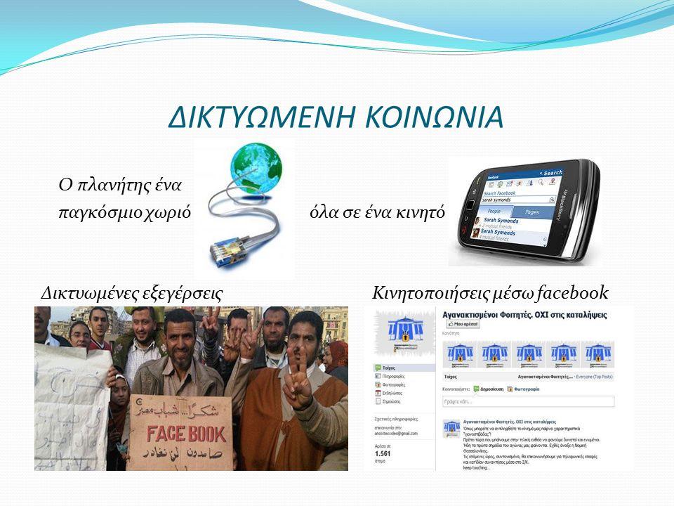 ΚΙΝΔΥΝΟΙ ΤΗΣ ONLINE ΚΟΙΝΩΝΙΚΗΣ ΔΙΚΤΥΩΣΗΣ Κακόβουλη χρήση των προσωπικών δεδομένων μας Κίνδυνος εξαπάτησης/παρενόχλησης/εκβιασμών Επαφή με επικίνδυνο ηλεκτρονικό περιεχόμενο: κακόβουλο λογισμικό, πορνογραφικό/βίαιο/ρατσιστικό υλικό, κ.α.