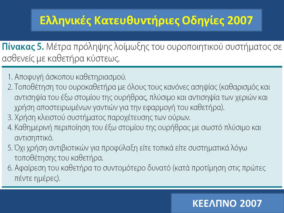 Ελληνικές Κατευθυντήριες Οδηγίες 2007 ΚΕΕΛΠΝΟ 2007