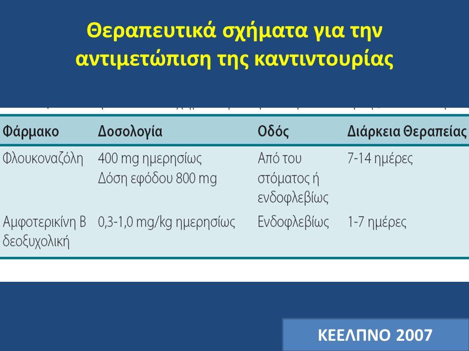 Θεραπευτικά σχήματα για την αντιμετώπιση της καντιντουρίας ΚΕΕΛΠΝΟ 2007