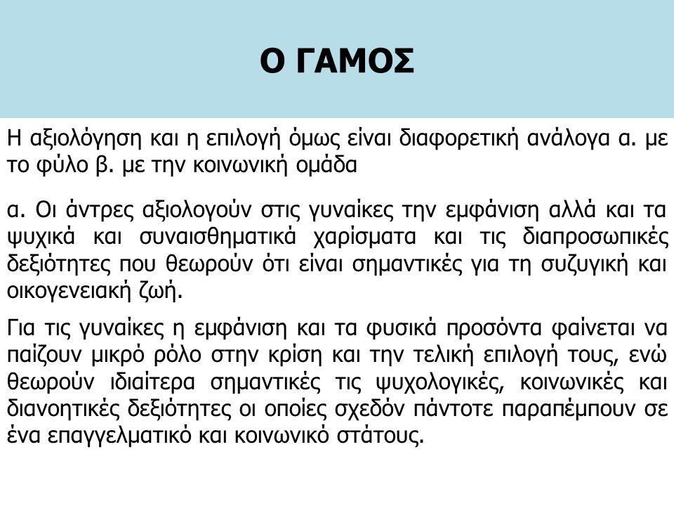 Ο ΓΑΜΟΣ α.