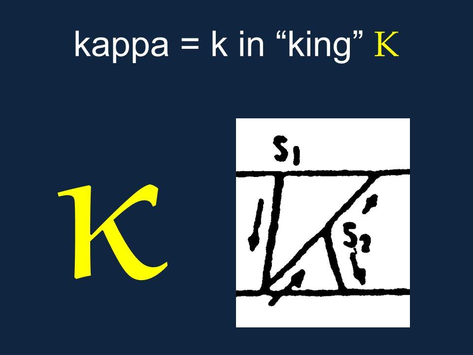 """κ kappa = k in """"king"""" Κ"""