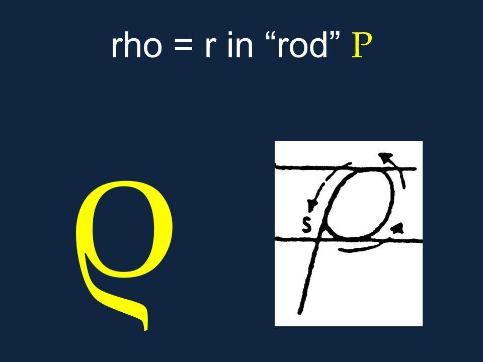 """ρ rho = r in """"rod"""" Ρ"""