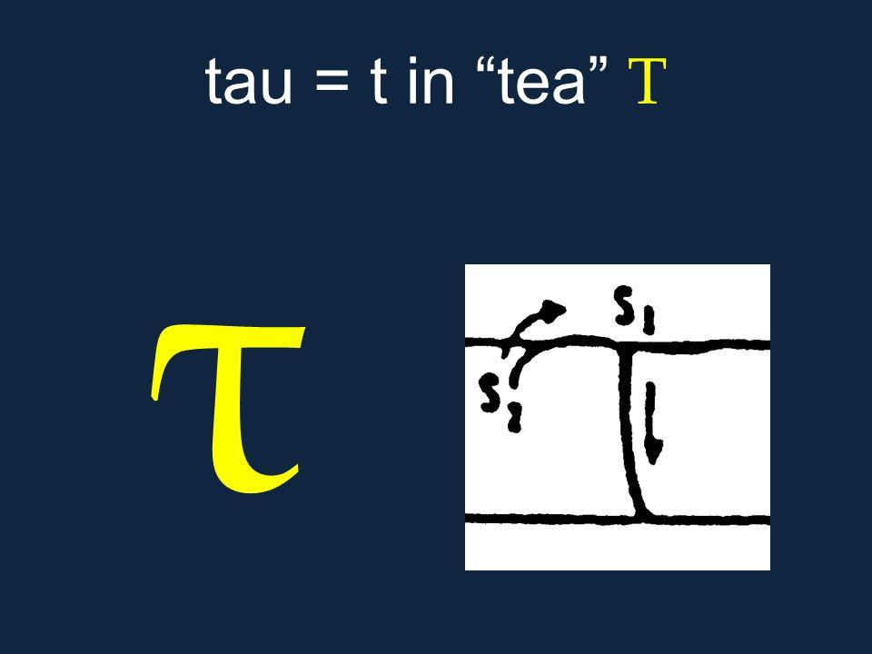 """τ tau = t in """"tea"""" Τ"""